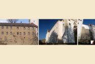Expeditionsgebäude vor und nach den Arbeiten