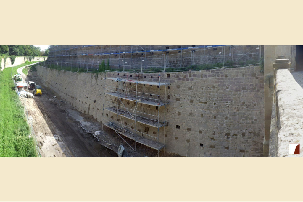 Wallgrabenmauern und Kasematten am Äußeren Torturm