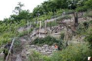 Trockenmauern am Hang mit Notsicherung