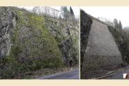 Nordbahntrasse am Felseinschnitt Bramdelle vorher und nachher