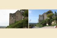 Untere Burg, Turm vorher & nachher