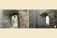 Bogenmauerwerk von Innen vorher & nachher