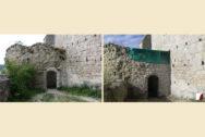 Bogenmauerwerk von Außen vorher & nachher