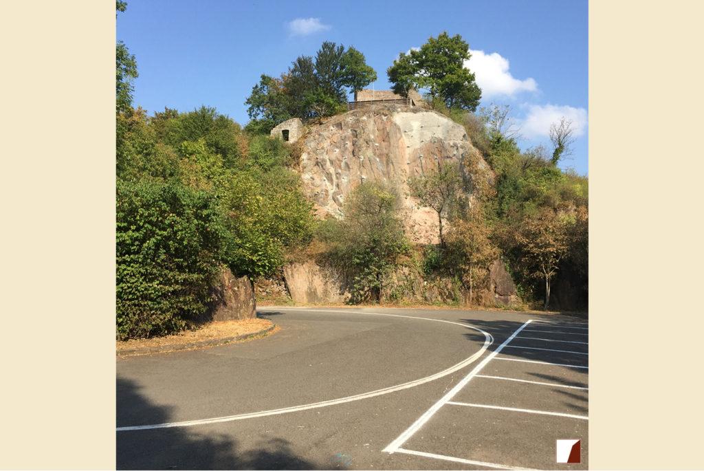 Felsabschnitt unterhalb der Michelsburg nach Fertigstellung der Arbeiten