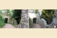 Haupttor und Vorwerkmauern vor und nach den Arbeiten